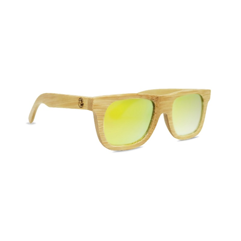 Kid's Natural Bamboo Wayfarer Sunglasses